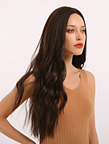 cheap -Synthetic Wig Weave Curly Water Wave Middle Part Side Part With Bangs Wig Very Long Brown Synthetic Hair 26 inch Women's Cosplay Women Synthetic Brown BLONDE UNICORN