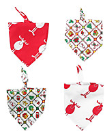 cheap -Dog Cat Bandanas & Hats Dog Bandana Dog Bibs Scarf Plaid / Check Cartoon Reindeer Party Cute Christmas Party Dog Clothes Adjustable Costume Cotton L