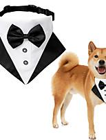 cheap -Dog Dog Bandana Dog Bibs Scarf Triangle Bibs Accessories Dog Clothes Adjustable Black Red Blue Wedding Costume Husky Golden Retriever Corgi Cotton Bowknot Party Cute S M L