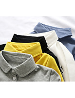 cheap -Kids Boys' Basic Black Blue Solid Colored Long Sleeve Tee White