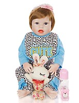 cheap -KEIUMI 22 inch Reborn Doll Baby & Toddler Toy Reborn Toddler Doll Baby Girl Gift Cute Washable Lovely Parent-Child Interaction Full Body Silicone D282-C58-H31-T23 with Clothes and Accessories for