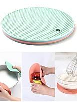 cheap -Multi-Function Coaster 18cm Round Heat-Resistant Honeycomb Silicone Coaster Slip Anti-Hot Pad Kitchen Tools 4Pcs/Set