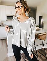 cheap -Women's Hoodie Star Casual Hoodies Sweatshirts  Gray