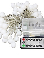 cheap -Waterproof Remote Controls Fairy Garland LED Ball String Lights  for Christmas Tree Wedding Home Indoor Decoration Battery Powered