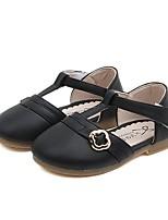 cheap -Girls' Flats Comfort PU Little Kids(4-7ys) Black / Pink / Beige Summer