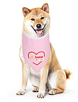cheap -Dog Cat Bandanas & Hats Dog Bandana Dog Bibs Scarf Letter & Number Casual / Sporty Cute Christmas Birthday Dog Clothes Adjustable Pink Costume Cotton Polyster