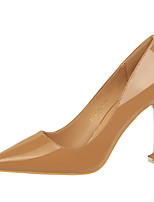cheap -Women's Heels Spring / Fall Stiletto Heel Pointed Toe Daily Solid Colored PU Camel / Nude / White