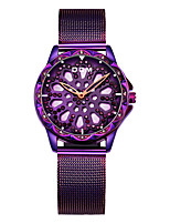 cheap -DOM Women's Steel Band Watches Quartz Modern Style Stylish Luxury Water Resistant / Waterproof Stainless Steel Black / Gold / Purple Analog - Purple Gold Green / Japanese / Japanese
