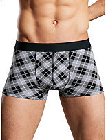 cheap -Men's Print Boxers Underwear - Normal Low Waist Black Blue M L XL