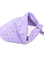 cheap -Dog Cat Bandanas & Hats Dog Bandana Dog Bibs Scarf Flower Casual / Sporty Cute Sports Casual / Daily Dog Clothes Adjustable Purple Pink Costume Cotton S M