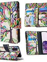 cheap -Case For Samsung Galaxy S20 Ultra S10E S9 Plus Wallet / Card Holder / with Stand Full Body Cases Tree PU Leather For Galaxy A10E A20E A10 A20 A30 A40 A50 A70