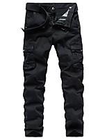 cheap -Men's Hiking Pants Hiking Cargo Pants Outdoor Standard Fit Breathable Stretchy Comfortable Multi-Pocket Cotton Pants / Trousers Bottoms Dark Grey Black Khaki Dark Green Hunting Fishing Climbing 29 30