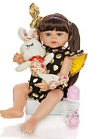 cheap -KEIUMI 22 inch Reborn Doll Baby & Toddler Toy Reborn Toddler Doll Baby Girl Gift Cute Washable Lovely Parent-Child Interaction Full Body Silicone 22D09-C301-T23 with Clothes and Accessories for