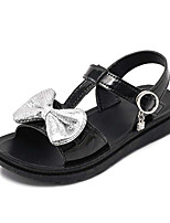 cheap -Girls' Sandals Slingback PU Toddler(9m-4ys) / Little Kids(4-7ys) Walking Shoes Bowknot White / Black Summer / Fall / Rubber