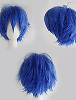 cheap -Synthetic Wig Curly Asymmetrical Wig Short Light Brown Green White Black Purple Synthetic Hair 12 inch Women's Anime Cosplay New Arrival Black