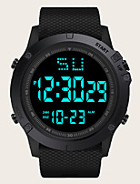 cheap -Kids Digital Watch Digital Classic Water Resistant / Waterproof Silicone Black / Blue / Red Digital - Black Blue Red / Chronograph / Luminous / Large Dial