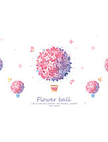 cheap -Pink Flower Wall Stickers Decorative Wall Stickers, PVC Home Decoration Wall Decal Wall Decoration / Removable