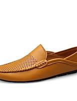 cheap -Men's Summer Daily Boat Shoes PU Black / Yellow / Blue