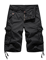 cheap -Men's Hiking Cargo Pants Outdoor Loose Breathable Quick Dry Front Zipper Soft Cotton Bottoms Black Yellow Blue Grey Light Grey Fishing Climbing Camping / Hiking / Caving 30 32 34 36 38