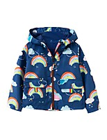cheap -Kids Boys' Basic Blue Rainbow Print Long Sleeve Blouse Blue