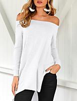 cheap -Women's Cotton Tee Dress Long Sleeve Backless Asymmetric Hem Sport Athleisure Dress Lightweight Breathable Soft Everyday Use Daily Casual