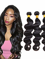 cheap -3 Bundles Hair Weaves Malaysian Hair Wavy Human Hair Extensions Remy Human Hair 100% Remy Hair Weave Bundles 300 g Natural Color Hair Weaves / Hair Bulk Human Hair Extensions 8-28 inch Natural Color