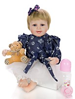 cheap -KEIUMI 18 inch Reborn Doll Baby & Toddler Toy Reborn Toddler Doll Baby Girl Gift Cute Lovely Parent-Child Interaction Tipped and Sealed Nails Half Silicone and Cloth Body with Clothes and Accessories
