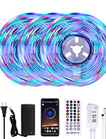 cheap -MASHANG Bright RGBW LED Strip Lights 15M Music Sync Smart LED Lights Tiktok Lights 3510LEDs SMD 2835 Color Changing with 40 keys Remote Bluetooth Controller for Home Bedroom TV Back Lights DIY Deco