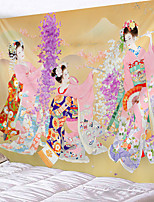 cheap -Home Living Tapestry Wall Hanging Tapestries Wall Blanket Wall Art Wall Decor Japanese Style Cherry Blossom Girl Tapestry Wall Decor