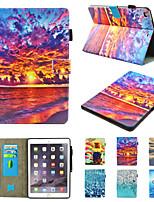 cheap -Case For Apple iPad Mini 3 2 1  iPad Mini 4  iPad Mini 5 360 Rotation  Shockproof  Magnetic Full Body CasesButterfly  Scenery  Panda  PU Leather  TPU