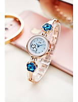 cheap -Women's Quartz Watches Fashion Silver Alloy Chinese Quartz Golden+White Blue Sky Blue Adorable 1 pc Analog One Year Battery Life