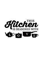 cheap -Removable Sticker Kitchen Love First Generation Carved Carved Removable Personality Kitchen Restaurant Background Decoration Removable Sticker