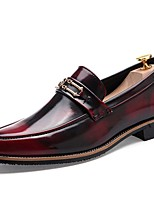 cheap -Men's Summer Daily Loafers & Slip-Ons PU Wine / Black / Gold
