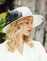 cheap -Headwear Casual Polyester Hats with Feather / Floral 1pc Casual / Daily Wear Headpiece