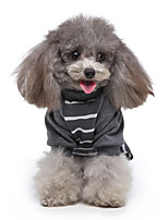 cheap -Dog Jumpsuit Pajamas Stripes Casual / Sporty Cute Casual / Daily Weekend Dog Clothes Warm White Black Red Costume Polyester XS S M L XL