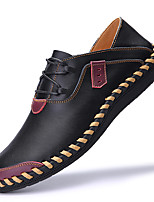 cheap -Men's Oxfords Business / Casual / British Daily Outdoor Nappa Leather Breathable Handmade Non-slipping Black / Burgundy / Brown Spring / Fall