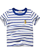 cheap -Kids Boys' Street chic Striped Short Sleeve Tee White
