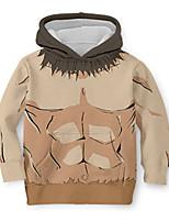 cheap -Kids Toddler Boys' Active Street chic 3D Print Long Sleeve Hoodie & Sweatshirt Khaki