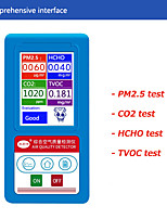 cheap -Indoor Air Quality Monitor Tester Gas Analyzer CO2  HCHO  PM2.5  PM10  PM1.0  TVOC Particles Dust Detector Counter PM 2.5