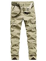cheap -Men's Hiking Pants Hiking Cargo Pants Outdoor Standard Fit Breathable Stretchy Comfortable Multi-Pocket Cotton Pants / Trousers Bottoms Black Khaki Dark Green Royal Blue Hunting Fishing Climbing 29