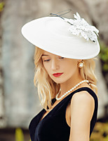 cheap -Headwear Elegant Polyester Hats / Headpiece with Floral 1pc Wedding / Party / Evening Headpiece