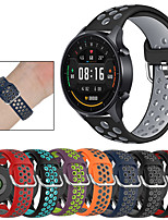 cheap -Sport Silicone Wrist Strap Watch Band for Xiaomi Watch Color / Amazfit Bip S / Amazfit GTR 47mm / GTR 42mm / Amazfit Stratos 3 / Amazfit Stratos 2 2S / Pace / GTS Replaceable Bracelet Wristband