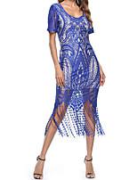 cheap -Victorian Summer Dress Costume Wine / Black / Blue Vintage Cosplay Event / Party Sheath / Column