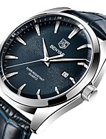 cheap -BENYAR Men's Sport Watch Quartz Modern Style Stylish Classic Water Resistant / Waterproof Leather Analog - Black Blue Brown / Stainless Steel / Calendar / date / day