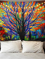 cheap -Colorful Tree Tapestry Wall Hanging Psychedelic Forest with Birds Wall Tapestry Bohemian Mandala Hippie Tapestry for Bedroom Living Room
