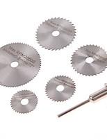 cheap -6 Pcs 22-50mm HSS  Circular Saw Blade Set For Dremel Rotary Tool wood plastic pvc cut off cutting