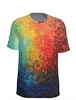 cheap -Kids Boys' Sports & Outdoors Basic Holiday Tie Dye Short Sleeve Tee Rainbow