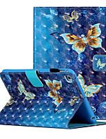 cheap -Case For Apple iPad Mini 3 2 1 iPad Mini 4 iPad Mini 5 Shockproof Flip Pattern Full Body Cases Butterfly Animal Flower PU Leather TPU