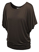 cheap -women's t-shirt basic style short sleeve dolman sleeve boat neck tee top
