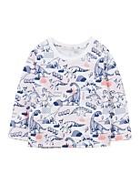 cheap -Kids Boys' Basic Dinosaur Animal Print Long Sleeve Tee Rainbow